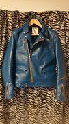 Lewis Leathers Cyclone Double Riders Size 38 Jacket Turquoise Menandrsquos Japan Used