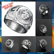 Usa Military Ring Marine Corps Us Army Stainless Steel Men Signet Rings Jewelry