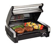 New Heavy Duty Flavor Searing Indoor Electric Grill Family Bbq Dinner Burger