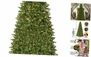 And039feel Realand039 Pre-lit Artificial Christmas Tree | Includes 14 Ftclear Lights
