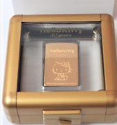 Zippo Limited Edition Hello Kitty 30th Anniversary Gold Lighter Very Rare Japan