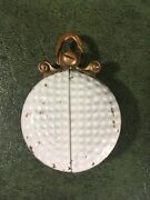 Antique Golf Ball Locket Watch Necklace Pocket Watch Very Cool And Hard To Find