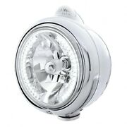 United Pacific 32441 - Chrome Guide 682-c Headlight H4 W/ White Led And Led Signal