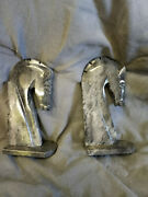 Horse Head / Knight Bookends Grey Marble