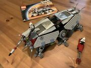 Lego Star Wars 4482 At-te 100 Complete W/4 Minifigs And Manual Free Shipping