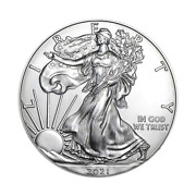 2021 American Silver Eagle .999 Fine Silver With Our Certificate Of Authenticity