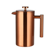 Coffee Pot Stainless Steel Double Wall French Press Hand Brew Teapot Coffee Pot