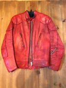 Vintage Lewis Leather Riders Jacket Red Size 36 Rare Menandrsquos Motorcycle Japan Used