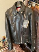 New With Tags Lewis Leathers Ladies 391 Lightning Size 32 Motorcycle Black Japan