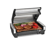 New Compact Heavy Duty Searing Grill W/ Ceramic Grids Bbq Home Indoor Cooking
