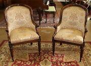 Beautiful Pair Of Hickory White Fireside Club Arm Chairs