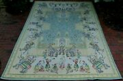 Needlepoint Rug Floral Horse Elephant Deer Baby Animals Dog Circus 12and039 X 8and039 Wool