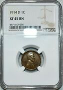 1914 D Lincoln Cent Penny Ngc Xf45 Sharp Key Date