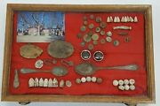 Civil War Collection Display Of Discovered Items From Westover Plantation