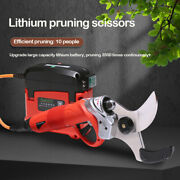 Electric Cordless Pruning Shears Scissors Garden Tree Branche Trimmer W/battery
