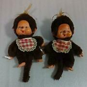 Vintage Monchhichi 2 Bodies About 40 Years Ago