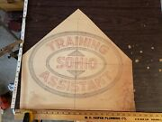 1940s Sohio Training Assistant 21x22 Dealership Drawing Sign Uniform Gas Station