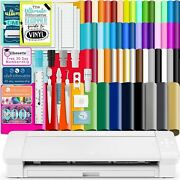 Silhouette White Cameo 4 Plus - 15 W/ 64 Oracal Vinyl Sheets, Tools, Guides