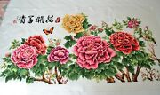 Stunning Joy Sunday Completed Cross Stitch Embroidery Tapestry Floral Chinese Xl
