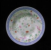 Rare Antique Chinese Hand Painting Flowers Porcelain Plate Marked Tuisitang
