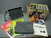 Vintage Lite-brite With Garfield And Strawberry Shortcake Refill Sheets
