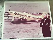 Signed Photograph Of Bob Hoover With American P-51 Rockwell Plane
