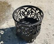 Outdoor Fire Pit Burning Patio Stove Fireplace Large Bbq Grill Poker Wood Bowl