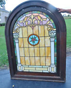 Antique Arch Stained Glass Window - Ca. 1880s