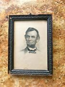 Lincoln Engraving By J C Buttre , Photo By M Brady , Period Frame