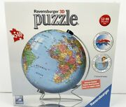 Ravensburger 3d Puzzle Ball World Globe 540 Pieces W/ Display Stand New Sealed