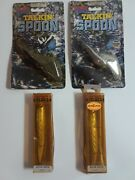 Lot Of 4 Vintage Rebel Lures 2 Talking Spoons - 2 Minnow Jointed Open Box