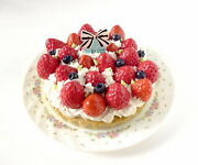 Justthe Real Thing. Fake Sweets Strawberry Tart Memo Stand Food Samples Clip