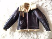 Eastman B3 Vintage Leather Jacket Size 36 Thick Outerwear Flight War Japan Used