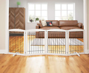 Pawland 96-inch Extra Wide Dog Gate For The House, Doorway, Stairs, Freestanding