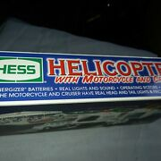Hess Helicopter With Motorcycle And Cruiser 2001
