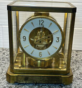 Vintage Swiss Jaeger Lecoultre Atmos Brass Mantle Clock Sn 146650 1960's Build