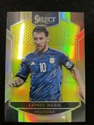 【dhl Express】 2016-17 Panini Select Argentina Lionel Messi Neon Yellow /125