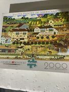 Charles Wysocki Amish Country 2000 Pc Puzzle Fall Farm Country Horses Apples