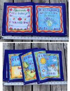 Genesis In The Beginning Soft Book Children's Fabric Panel Quilted Blocks Vtg
