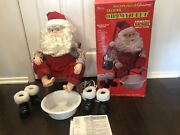 Vintage New Telco 1994 Motionettes Talking Santa, Oh My Feet Animated