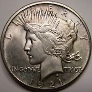 1921 Peace Silver Dollar High Relief Uncirculated