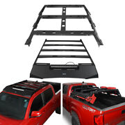 Top Roof Rack+bed Rack Luggage Carrier Cross Bar Kit Fit Toyota Tacoma 2005-2021