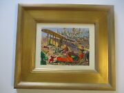 Eugene Clay Painting Old American Aviation U.s Mail Plane Landscape Vintage