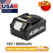 18v 6.0ah Lithium Ion Battery Pack Lxt For Makita Bl1860 Bl1830 Us Power Tools