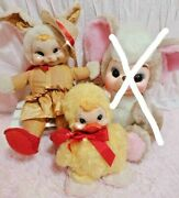Rushton Rubber Face Easter Vintage Bunny And Duck Toy