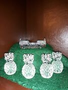 Tooth Pick Holder 1950andrsquos Over 24 Lead Crystal West Germany W Candle Holders
