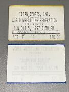 Rare Wwf Ticket Lot 10/05/97 1st Hell In A Cell + Kane And 1998 Survivor Series