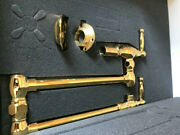 Newport Brass Polished Gold 9482/24 Double Handle Wall Mount Pot Filler Faucet