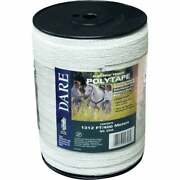 Dare 1/2 In. X 1312 Ft. Polyethylene Electric Fence Poly Tape 2346 Pack Of 6