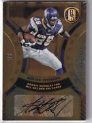 【dhl Express】2021 Panini Gold Standard Adrian Peterson Golden Records Auto /5